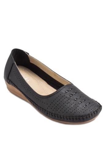 沖孔豆esprit hk office豆鞋, 女鞋, 厚底楔形鞋