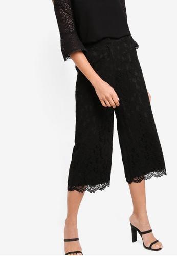 ZALORA black Lace Wide Leg Pants 00AF7AA2A24D88GS_1
