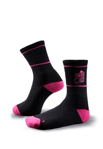 Life8 black iStarKu X MRJ Co-Branded Socks-05270- Black LI283AA0GOHJSG_1