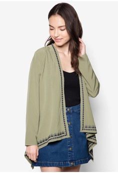 Love Embroidered Waterfall Cardigan