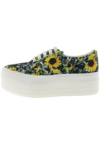 Maxstar 黃色 新款韩国鞋C50-5H-Gogh時尚帆布布混合女黃色 US Women Size MA345SH11GSUTW_1