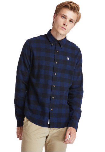 Timberland blue Timberland Men Long Sleeve Mascoma Check Shirt Solucell-TB0A2F3TB68 2D835AA477705AGS_1