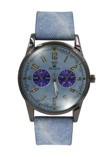 Dooka blue Bellos Men's Leather Strap Analog Wrist Watch DO079AC35PUAPH_1