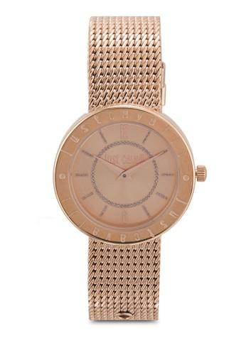R7253532501 Just Shiny 刻字網眼不銹鋼手錶、 錶類、 飾品配件JustCavalliR7253532501JustShiny刻字網眼不銹鋼手錶最新折價