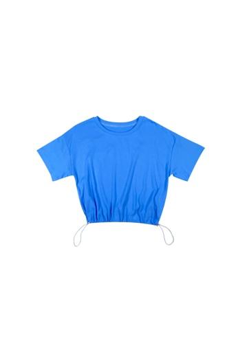 DRUM blue DRAWSTRING SHORT SLEEVE TOP- BLUE FF37DAA86A3CEDGS_1