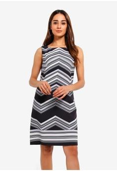 c204ab27b31 Wallis black Monochrome Stripe Shift Dress 10AF0AA3B7622AGS_1