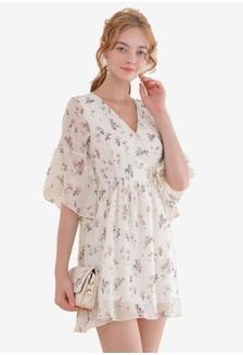 caa15496d2 Floral Wrap Dress 0F793AAA4B6CE5GS 1