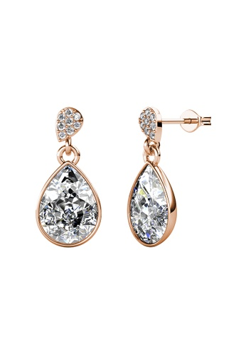 LOVE AND LIFE gold Love & Life Adelyn Drop Earrings (Rose Gold Crystal) embellished with Crystals from Swarovski 45332AC3DB49F1GS_1