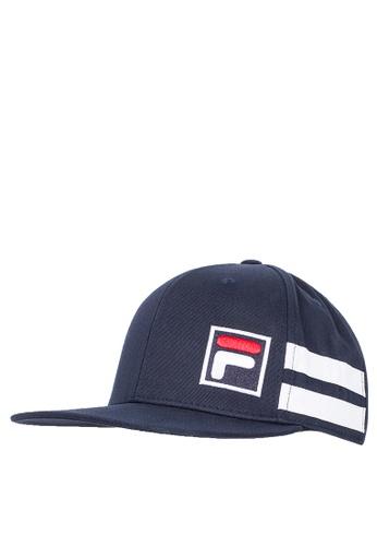 FILA navy White Line Baseball Cap F6B3CAC8EB47A8GS_1