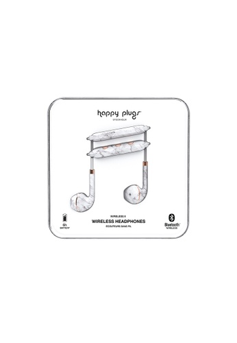 happy plugs white Happy Plugs Wireless II - White Marble 7D7D5ACA626405GS_1