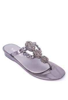 Glass Cinderella Sandals