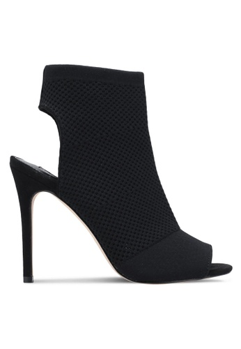 Miss Selfridge black Candy Knitted Peep Toe Booties MI665SH0SHVEMY_1