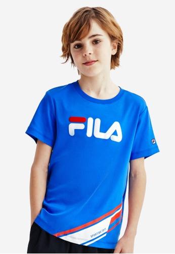 FILA blue FILA KIDS FILA Logo Cotton T-shirt 8-15yrs C80A0KA06186DFGS_1