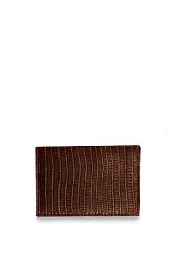 CSHEON brown Dark Brown Small Brown with Lizard Skin Wallet/Cardholder 718C1AC8E1841EGS_1