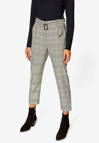 ESPRIT white and multi Checkered Service Pants 3FE9CAAB917FADGS_1
