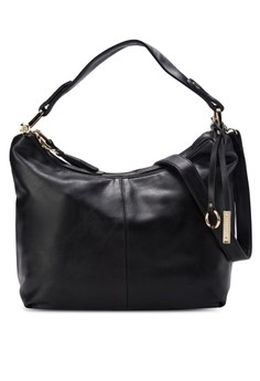 Soft Supple Dual Zip Compartment Convertible Hobo Bag