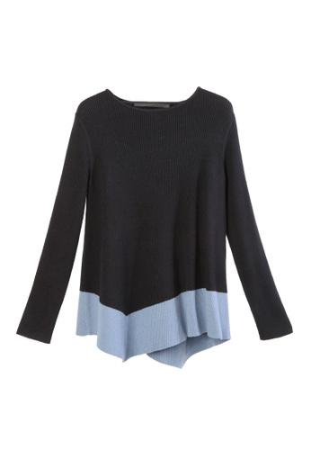 Giordano Ladies multi Asymmetric Colour Blocked Sweater 82661AA38D9271GS_1