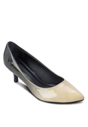 漸層雙色尖頭高跟鞋, 女鞋, 厚底高跟esprit 衣服鞋