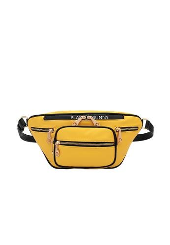 PLAYBOY BUNNY yellow Zip Overload Waist Bag 0E555ACA80A3F3GS_1