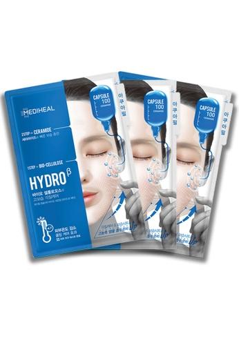 Mediheal blue Mediheal Capsule 100 Bio Seconderm (Hydro β) Mask (x3 sheets) 7DEF4BE32F01E8GS_1