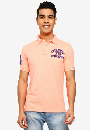SUPERDRY pink Classic Superstate Short Sleeve Polo Shirt CB6EEAA01ADFD6GS_1
