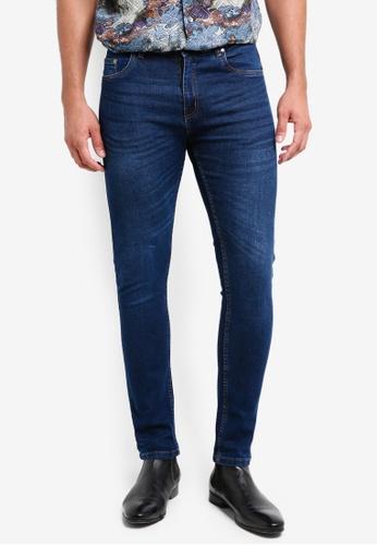 threads by the produce 藍色 緊身窄管牛仔褲 7D0F6AA72DB232GS_1