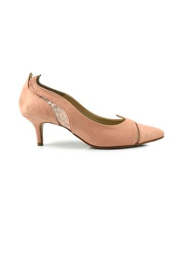 SHINE pink SHINE Point Toe Suede Pumps 4CB14SHA6BF7B1GS_1