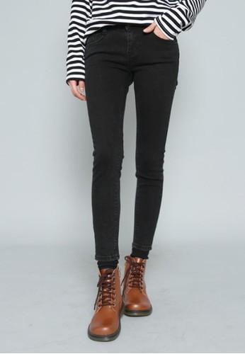 加絨黑esprit台灣色牛仔褲, 服飾, 多色牛仔褲