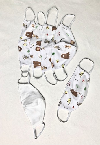 MKY CLOTHING Kids Cotton Face Mask 0438AESE4BDC87GS_1