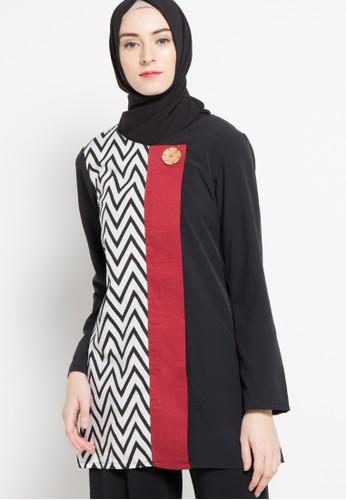 Aira Muslim Butik red Ariana Blouse AI892AA70HAVID_1