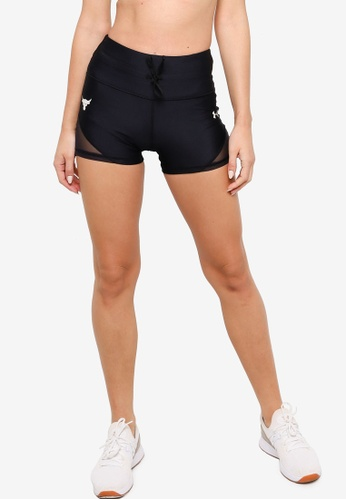Under Armour 黑色 Project Rock DC Shorty Shorts D05EEAAF90550CGS_1