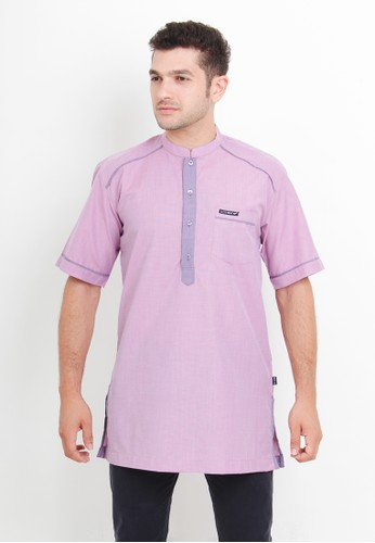 NextUp pink and purple Kurta Lengan Pendek 1198 Bordir - Merah Muda 2753AAA3791F98GS_1