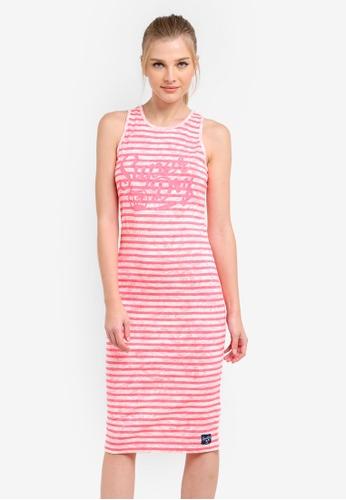 Superdry pink Lagoon Logo Midi Dress SU137AA0S4GSMY_1