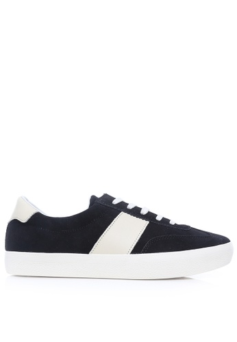 Zeve Shoes black and white Zeve Shoes Luca Sneakers - Black Suede Leather DFB83SHECE5999GS_1