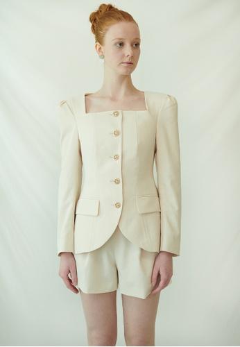 TAV [Korean Designer Brand] Baker Jacket - Ivory 0A61EAAFBC38F5GS_1