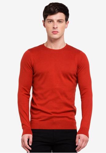 OVS 紅色 圓領針織棉T 7F3D0AA523723BGS_1