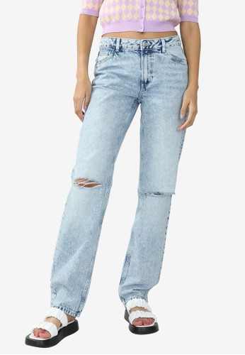 PIMKIE blue Straight Destroyed Jeans 54740AA1F5A2D5GS_1