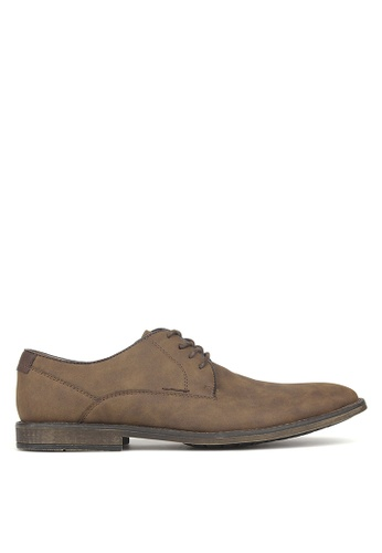 Betts brown Power Lace Up Derby Shoes F9368SH3AED321GS_1