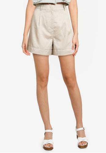 URBAN REVIVO grey Loose Shorts 32115AA5DC5EFAGS_1