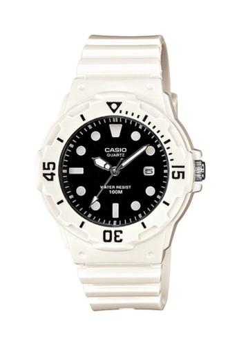 Casio white Casio Women's Analog LRW-200H-1EVDF Black Resin Band Casual Watch 13369AC9850EA1GS_1