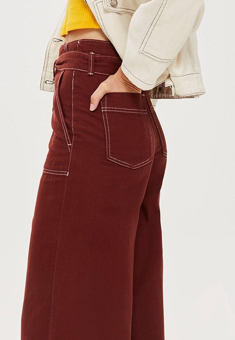 TOPSHOP Burgundy Utility Stitch Culotte Contrast Pants 8PBqz