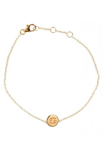 RAM Jewelry gold Zodiac Bracelet - Cancer A6664ACDDE9E7EGS_1
