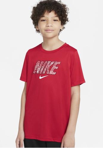 Nike red Dri-FIT Training T-Shirt 76931KAA0C3861GS_1