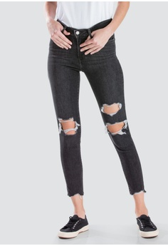 bb83ee511cbe3 Levi s black Levi s Womens 721 High Rise Skinny Ankle Jeans 22850-0032  B96ABAAAAAF782GS 1