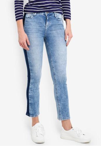 OVS blue Side Stripe Jeans 12ABAAAAACB7EDGS_1