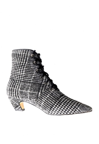 Twenty Eight Shoes 多色 尖頭綁帶中筒靴 VB1002 1F928SHF993A1FGS_1