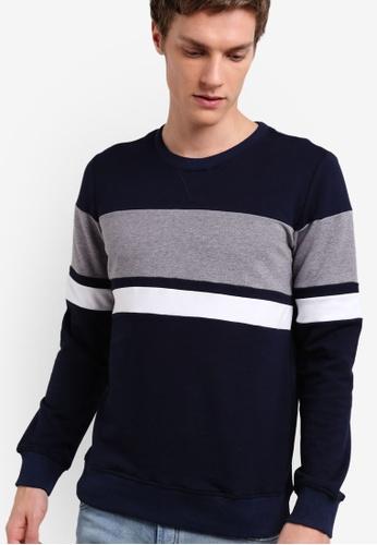 Murzaman blue Techno Sweatshirt MU501AA34NIBMY_1