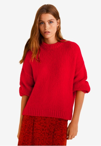 Mango red Chunky-Knit Sweater 3F0F7AA003F6B3GS_1