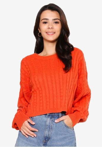 Cotton On orange Cable Co-Ord Pullover 29372AA51C2C51GS_1