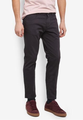 Sisley 褐色 基本款修身休閒長褲 2D691AA905DCBCGS_1